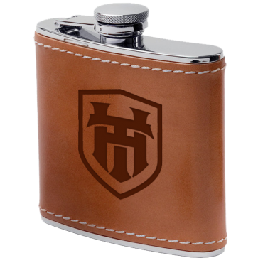 6oz Stainless Steel & Leather Flasks