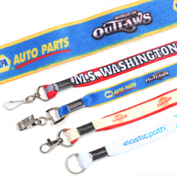 """Polyester Lanyards : 3/4"""" : Full Color Print"""