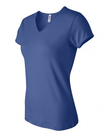 Bella + Canvas - Ladies' Baby Rib Short Sleeve V-Neck T-Shirt