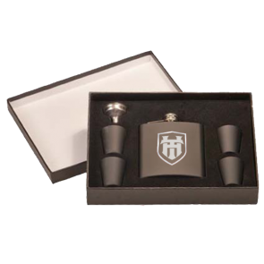 6oz Stainless Steel Flasks : 6 Piece Gift Box Set