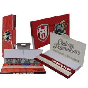 Rolling Papers Booklet + Attached Filter Tips : 5000 MOQ