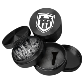 High Grade Aluminum Grinders : 4 Piece : 38mm