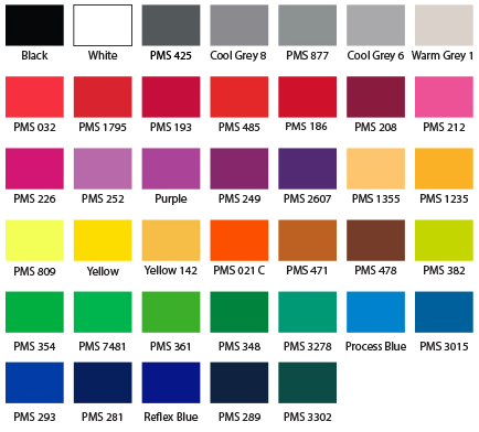 TH Custom Promos Standard Lanyard Print Colors